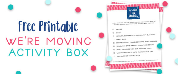 Downloadable Moving Activity Box