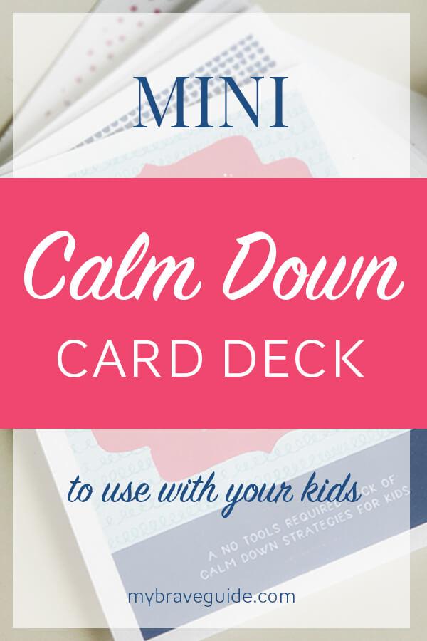 Mini Calm Down Card Deck