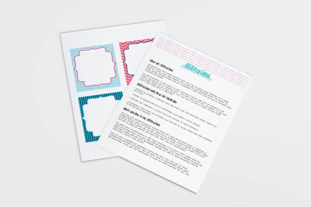 Make Your Own Affirmation Kit