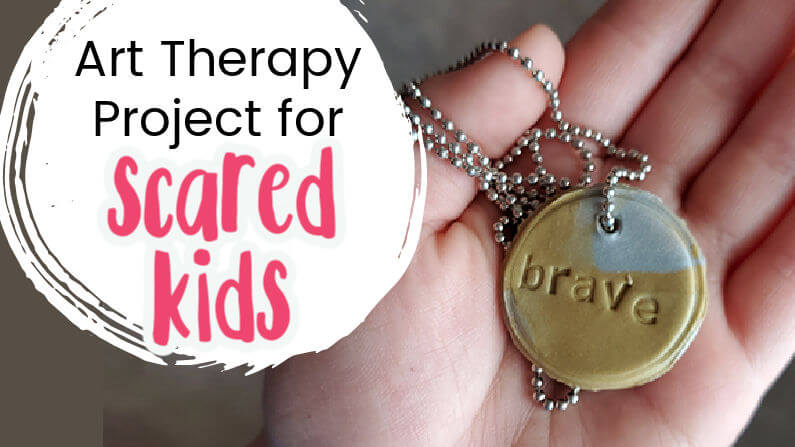 Art Therapy Idea for Scared Kids