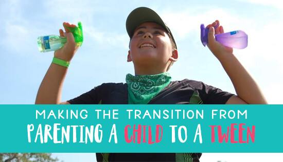 Making the change from parenting a child to a tween