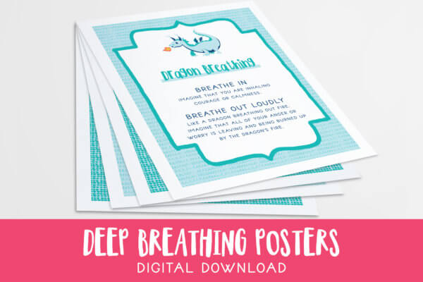 Deep Breathing Posters