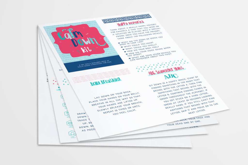 Printable Calm Down Cards