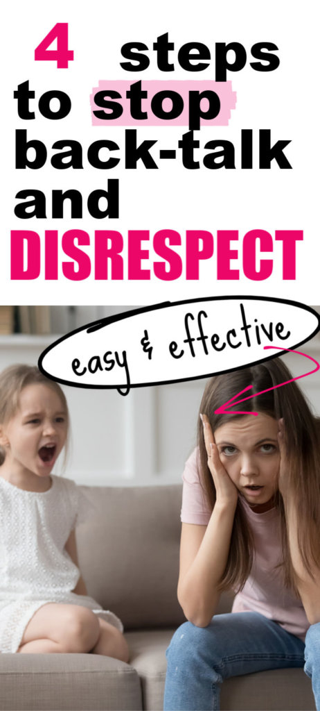 Stop Disrespect and Back talk