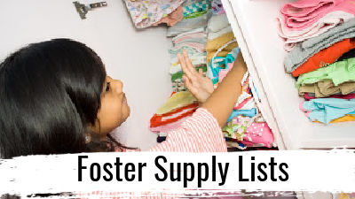 Foster Supply Lists