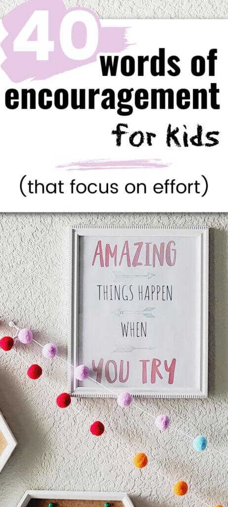 Words of Encouragement for Children